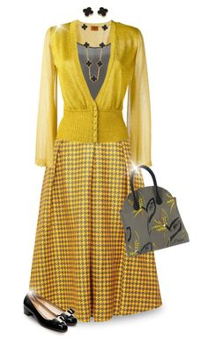 """""""3 Colors Challenge: Black, Gray and Yellow"""" by joy2thahworld ❤ liked on Polyvore featuring Missoni, Emily Lovelock, Dorothee Schumacher, Van Cleef & Arpels and Salvatore Ferragamo"""