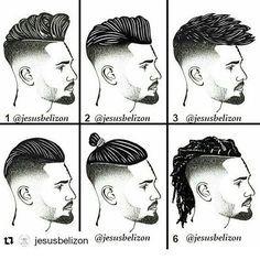 Resultado de imagen para todos los nombres de corte de pelo hombres