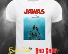 Jawas. Jaws Meets Star Wars White T Shirt. Wookiee. Chewbacca