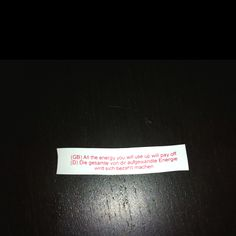 fortune cookie week #7