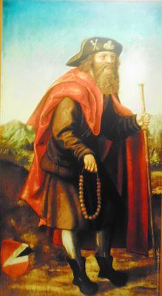 Pyhä Jaakob pyhiinvaeltajana. St. James the Great as a pilgrim. Germanisches Nationalmuseum, Nuremberg.