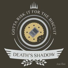 Magic the Gathering - Death's Shadow Life V2 #mtg #shirt #design #humor #funny #witty #redbubble #magicthegathering #epicupgrades #magic #death #shadow #biscuit #modern