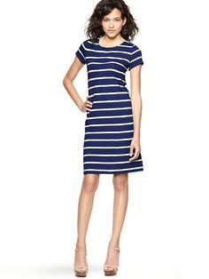 {Striped Crewneck Dress}