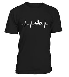 Heart Rate of Mountains  #gift #idea #shirt #image #funny #campingshirt #new