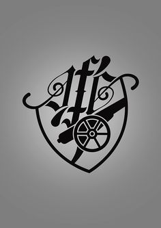 A rethink of the Arsenal logo, as well as its application onto a tattoo