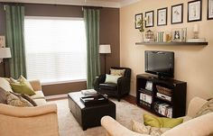 My Thrifty Living Room Refresh - The Thrifty Abode Living Room Furniture Layout, Living Room Tv, Apartment Living, Home And Living, Living Spaces, Tv Furniture, Clean Living, Living Area, Family Room