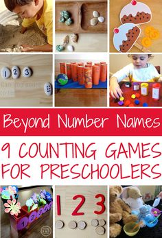 How children learn to count and 9 fun counting games to play with toddlers and preschoolers.