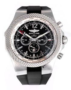 Großer Breiling Bentley GMT-Chronograph, Referenz A47362, in Stahl mit Saphirglas, drehbare Lünette mit Weltzeitanzeige, Gehäusedurchmesser: 48 mm, Armband...