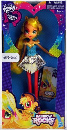My Little Pony Equestria Girls Applejack Doll (Neon Rainbow Rocks) #DollswithClothingAccessories
