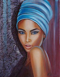 Discover great art by contemporary artist Nathalie ARMAND. Browse artworks, buy original art or high end prints. Black Girl Art, Black Women Art, Art Girl, Afrika Tattoos, Art Visage, L'art Du Portrait, Beautiful African Women, African Art Paintings, Black Art Pictures