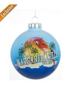 Margaritaville Parrot Ball Ornament