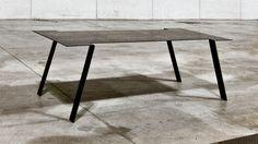 Table by gum design corten+wax