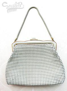 Original vintage Glomesh bag large  white, $50.00