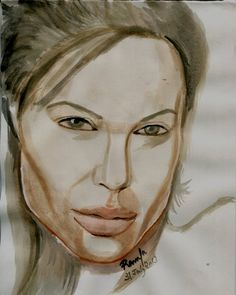 Water Color Sketch of the Hollywood Hottie – Angelina Jolie