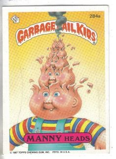 Vintage Garbage Pail Kids Garbage Pail Kids trading sticker by Topps. Find more vintage collectibles for sale. Garbage Pail Kids Cards, Old Fashioned Candy, Collector Cards, Kids Stickers, Chewing Gum, Trading Cards, Hello Kitty, Childhood, Fun