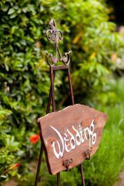 So many levels of yes - a Middle Earth themed wedding sign!