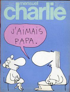 Charlie Mensuel - # 85 - Février 1976 - Couverture de Copi