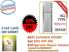 #Fridge All Brands we #Repair. Get 50%OFF ON #FRidge #Repair #Service No matter where you bought it, we can fix it. 1.We #repair all major brands, makes,and models.Basic fixes for the four most normal fridge issues: an ice-creator breakdown, water spilling onto the floor, a cooling disappointment and an excessive amount of clamor. 2. Odds are, you can tackle the issue yourself, spare some cash and keep away from the cost and detriment of an administration arrangement.