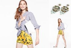 J.Crew-I love this look, the shorts are a little out there but I really like them. The top is a little sloppy but its okay, the shorts are all that matter.