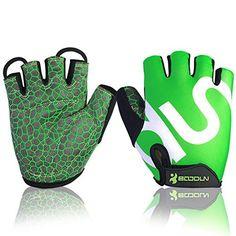 BOODUN Unisex Cycling Gloves, Green & White, Large - http://www.exercisejoy.com/boodun-unisex-cycling-gloves-green-white-large/cycling/
