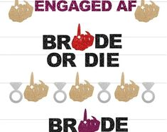 Ring Finger banner, Bachelorette Party Banner, Bride or Die, Engaged AF, Bride Banner, Engagement Ring Banner, Cruise ship door decor Bridal Shower Drinks, Bachelor Wedding, Hen Party Favours, Party Supply Store, Bachelorette Party Decorations, Party Shop, Have Some Fun, Party Printables, Banners