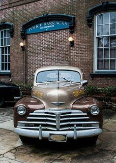 1947 Chevy Police Car, Savannah Georgia Fine Art Print