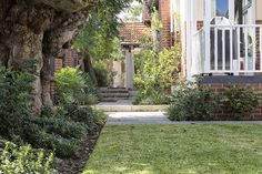 Wembley Residence heritage home landscape design Perth, Landscape Design, Sidewalk, Home And Garden, Gardens, Homes, Building, Plants, Projects