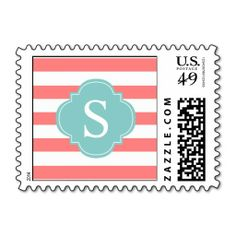 >>>Smart Deals for          	Coral and Mint Stripes Monogram Postage Stamps           	Coral and Mint Stripes Monogram Postage Stamps We have the best promotion for you and if you are interested in the related item or need more information reviews from the x customer who are own of them before p...Cleck Hot Deals >>> http://www.zazzle.com/coral_and_mint_stripes_monogram_postage_stamps-172920582215241741?rf=238627982471231924&zbar=1&tc=terrest