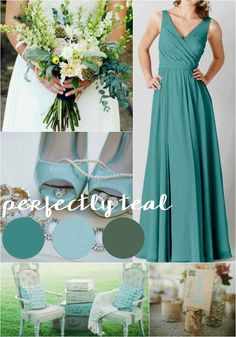 Teal and Mint | Our 4 Favorite Fall Wedding Color Palettes