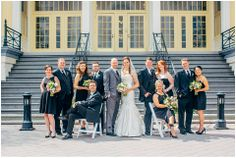 Gorgeous photo of this beautiful spring wedding party and the Maryland Zoo! www.locoflo.com