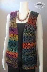 Unique Shell Vest , #free #crochet #pattern by Lorene Eppolite on AllFreeCrochet.com