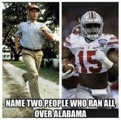 10 Funniest Alabama Football Memes of All Time Buckeyes Football, College Football Teams, Ohio State Football, Football Memes, Ohio State Buckeyes, Football Season, American Football, Football Uniforms, Football Stuff