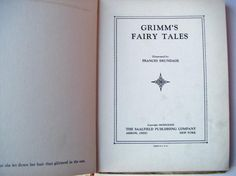 1933 Rare First Edition Tales from Grimm Hardcover Book Or Grimm's Fairy Tales The Saalfield Publishing Company Should Have Known Better, Traditional Stories, Grimm Fairy Tales, Cover Pages, Art Deco Fashion, The Book, The Past, Wisdom, Writing