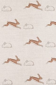 Emily Bond Rabbits & Hares Linen Union