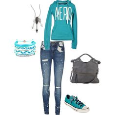 """""""Teal comfortable"""" by brandy-nicole-smith on Polyvore"""