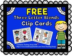 32 clip cards for initial blends scr, str, spr, and spl.Find more activities and printables for these blends by clicking the link:Related Products ⭐ Phonics Three Letter Blends Printables and Activities. Phonics Flashcards, Phonics Activities, Speech Therapy Activities, Phonics Blends, Blends And Digraphs, Kindergarten Crafts, Homeschool Kindergarten, Literacy Stations, Literacy Centers