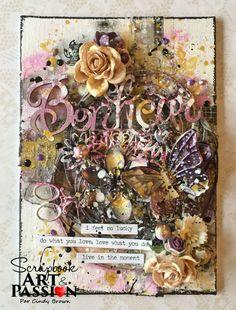 Bonheur en canevas pour ScrapBook Art et Passion