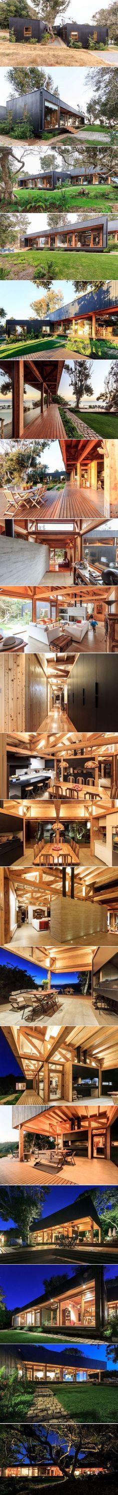 Prado Arquitectos Designs a Cozy Home in Hualpén, Chile | HomeDSGN #ContainerHomeDesigns