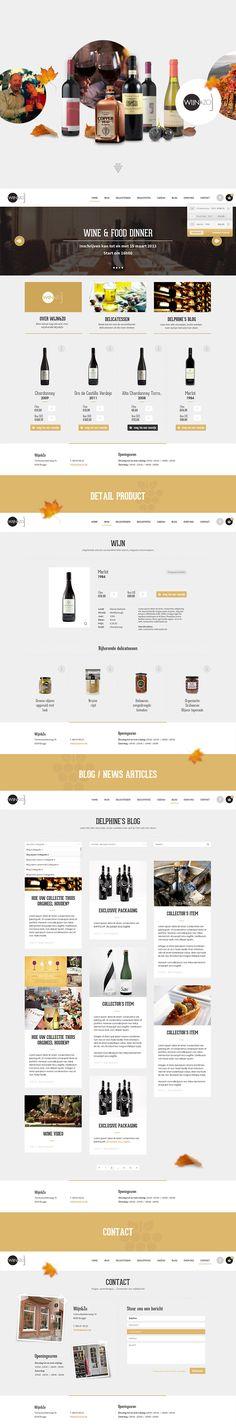 E-commerce/Webshop for Wijnenzo - Wine shop - Designed by Weblounge - www.weblounge.be #layout #webdesign #website #ecommerce #wine
