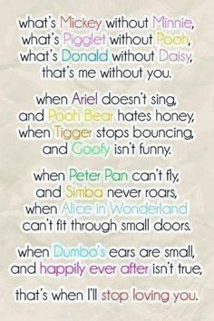 cute disney love quotes sayings sweet Friendship Quotes The Words, Citations Disney, Poster Disney, Disney Cute, Cute Disney Quotes, Disney Sayings, Disney Quotes About Love, Disney Style, Funny Disney
