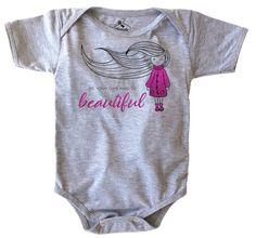 Body be your own kind of beautiful. Body de bebê cinza mescla ... 14b7b41c6df