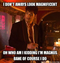 The Magnificent Magnus Bane, High Warlock of Brooklyn.