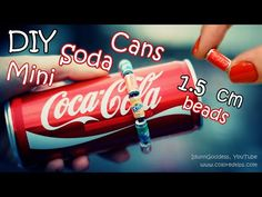 DIY Mini Soda Cans Beads - How To Make Tiny Cola, Fanta and Sprite Cans - YouTube