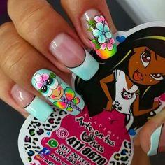 Manicure And Pedicure, Gel Nails, Natural Acrylic Nails, Colorful Nail Designs, Summer Nails, Nail Art, Beauty, Nail Desighns, Nail Bling