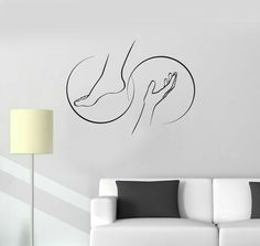 Decal Foot Massage Spa Salon Relax Therapy Beauty Wall Stickers Mural Unique Gift Vinyl Decal Foot Massage Spa Salon Relax Therapy Beauty Wall Stickers Mural flooring Vinyl flooring may refer to: Massage Logo, Spa Massage, Foot Massage, Neck Massage, Massage Therapy, Wall Stickers Murals, Vinyl Wall Decals, Beauty Hacks Eyelashes, Hair And Beauty Salon
