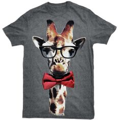 Red Bow Tie Giraffe Shirt Why do I not already own this?