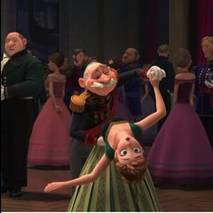 Screencap Gallery for Frozen Bluray, Disney Classics). Anna, a fearless optimist, sets off on an epic journey - teaming up with rugged mountain man Kristoff and his loyal reindeer Sven - to find her sister Cute Frozen, Frozen Elsa And Anna, Love Movie, Movie Tv, Elsa Coronation, Freeze Dance, Frozen 2013, Partner Dance, Best Dance