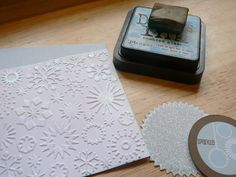make your embossed card stock glittery - LOVE it!
