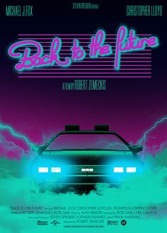 Back to the Future - poster '80's style líneas