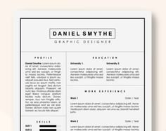 Resume Templates Resume Template Resumes Cv Resume Downloads